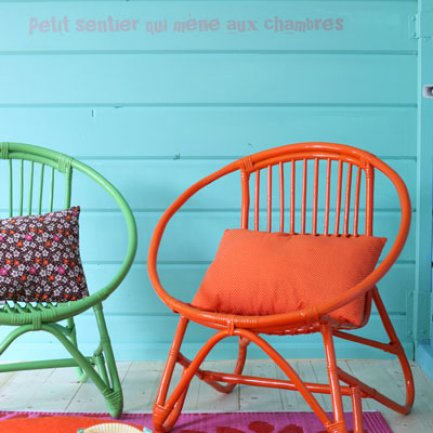 Turquoise & Orange